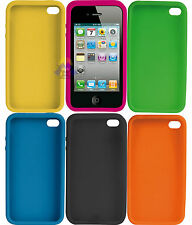 CUSTODIA per iPHONE 4 4s BUMPER IN Silicone COVER Slim MORBIDA Case - PORTA Back