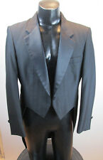 MENS VINTAGE NOTCH TAILS TUXEDO JACKET RAFFINATI BLUE HIGHLITE PINSTRIPE 35R