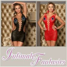 Black Red Pink Chemise Sexy Lingerie Stripper Dress Size 10 12 14 16 18 20