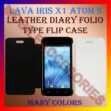 ACM-LEATHER DIARY FOLIO FLIP FLAP CASE for LAVA IRIS X1 ATOM S MOBILE FLIP COVER