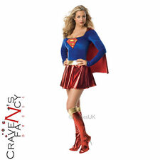 Official Supergirl Costume Ladies Superhero Fancy Dress Outfit Comic Book New