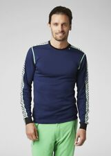 Helly Hansen Lifa Dry Stripe Crew Long Sleeved Top Evening Blue 48800/690/691