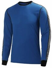 Helly Hansen Lifa Dry Stripe Crew Long Sleeved Top Cobalt Blue 48800/520 NEW