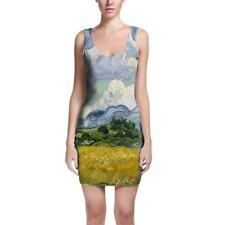 Vincent Van Gogh Fine Art Painting Bodycon Dress Sizes XS-3XL Sleeveless Stretch