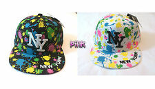 New Hot Hip Hop Boys / Girls NY Splash Designer Snapback Flat Hat Baseball Cap