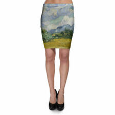Vincent Van Gogh Fine Art Painting Bodycon Skirt XS-3XL Stretch Short Skirt