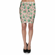 Cactus In Bloom Bodycon Skirt XS-3XL Stretch Short Skirt