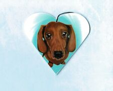 Dachshund Ornament Doxie Christmas Tree Decoration Heart Shape Dog Lover Gift
