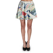 Kandinsky Abstract Art Painting Skater Skirt XS-3XL Stretch Flared Short Skirt