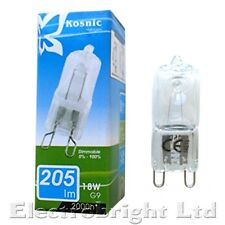 4x Kosnic/Eveready G9 18w=25w,28w/33w=40w or 42w=60w 240v DIMMABLE bulbs capsule