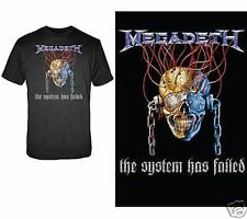 Megadeth The System Failed T-Shirt Officially Licensed Heavy Metal Rock S L 2XL