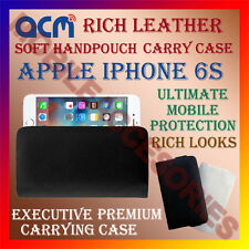 ACM-RICH LEATHER SOFT CASE for APPLE IPHONE 6S MOBILE HANDPOUCH COVER HOLDER NEW