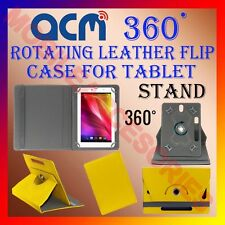 "ACM-ROTATING YELLOW FLIP STAND COVER 8"" CASE for KARBONN SMART TAB 8"" 360 ROTATE"