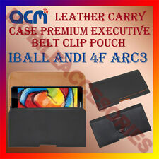 ACM-BELT CASE for IBALL ANDI 4F ARC3 MOBILE LEATHER POUCH COVER HOLDER HOLSTER