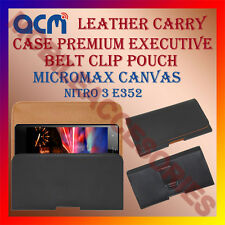 ACM-BELT CASE for MICROMAX CANVAS NITRO 3 E352 MOBILE LEATHER POUCH COVER HOLDER