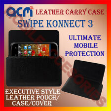ACM-HORIZONTAL LEATHER CARRY CASE for SWIPE KONNECT 3 MOBILE POUCH COVER HOLDER