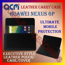 ACM-HORIZONTAL LEATHER CARRY CASE for HUAWEI NEXUS 6P MOBILE COVER POUCH HOLDER