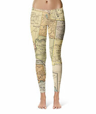 Vintage South West USA Map Sport Leggings XS-5XL Full Length High Waist