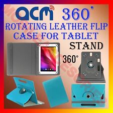 """ACM-ROTATING GREENISH BLUE FLIP COVER STAND 10"""" CASE for IBALL SLIDE 1044 ROTATE"""