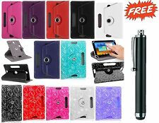 360°Rotatable Universal Leather Stand Case Cover For 7 & 8Inch Android Tablet PC