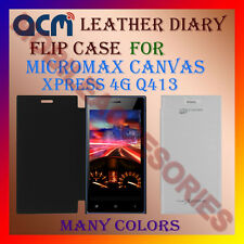 ACM-LEATHER DIARY FOLIO FLIP CASE for MICROMAX CANVAS XPRESS 4G Q413 COVER FLAP
