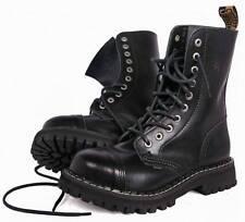 BRITISH RANGERS BOOTS BLACK LEATHER COMBAT HIGH LEG MENS ARMY 10 HOLES