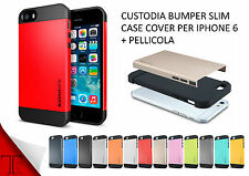 COVER CASE CUSTODIA SLIM TPU ARMOR PER APPLE IPHONE 6 6s 4.7 BUMPER + PELLICOLA
