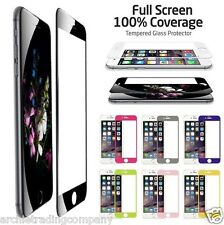 Full Colour Tempered Glass Screen Protector Film for iPhone 5 6 Front + Back