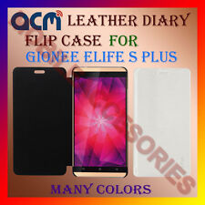 ACM-LEATHER DIARY FOLIO FLIP CASE of GIONEE ELIFE S PLUS MOBILE FRONT/BACK COVER