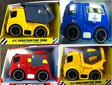 Children kids Toy Truck Construction Dump, Mixer, Fire rescue, Police car