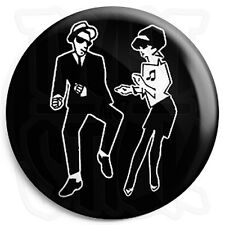 2-Tone Dancing Couple - 25mm Rude Boy, Ska Button Badge, Fridge Magnet Option