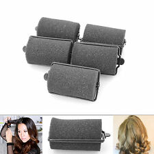 Black Cushion Hair Rollers For Perfect Easy Curls Sponge  Styling Twist Curlers