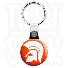 Trojan Records - 25mm Skinhead, Ska Reggae Keyring Button Badge, Zip Pull Option