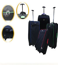 WHEELED LIGHTWEIGHT CABIN SMALL HAND TROLLEY LUGGAGE FLIGHT HOLIDAY BAG SUITCASE