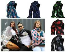 Skull Scarves Black Scarf with Skull Print Teal Navy Punk Rock Halloween D01