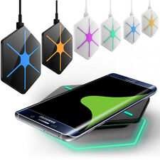 LED Qi Samsung Induktive Ladestation Wireless Charger f. Galaxy S6 /S6 Edge Plus