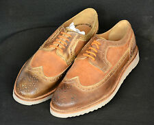 Zara Men Authentic Brogues Casual Tan Leather UK9,10 w/o box New w/o box