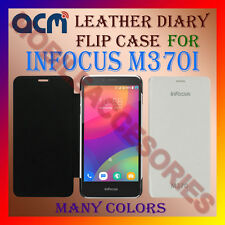 ACM-LEATHER DIARY FOLIO FLIP CASE for INFOCUS M370i MOBILE FRONT & BACK COVER