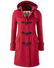 British Duffle Women's Made in England Long Duffle Coat - Red