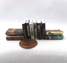 10 STEPHEN KING Miniature Books Set 1:12 Scale Dollhouse Prop Books