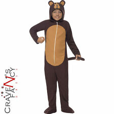 Child Monkey Onesie Costume Kids Animal Jungle Fancy Dress Boys Girls Ape New