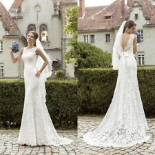 Sexy New White/ivory lace Wedding dress Bridal Gown stock size 6-8-10-12-14-16