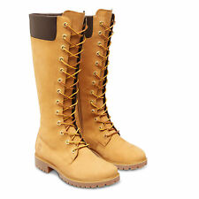 Timberland long lace knee 8633A wheat Ladies Calf Boots waterproof RRP £180