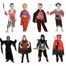 Kinder Jungs 3-9 Jahre Kostüm Halloween Fasching Pirat Vampir Scream Dracula