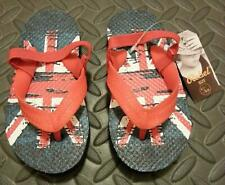 Primark Union Jack Flip Flops Boy's UK Flag Sandals Thongs kids UK Sizes 6 - 11