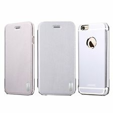 Usams ® Apple iPhone 6 / 6S Sailling Metallic Chrome Finish Flip Cover