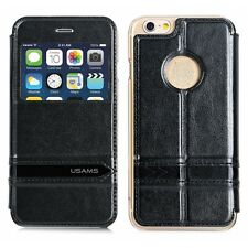 USAMS Merry Series Leather Side Flip Stand Mobile Case for iPhone 6 Plus / 6S+