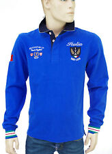 RUCKFIELD CHABAL Polo RUGBY  bleu Italie homme Italia homme H0002223 Taille L