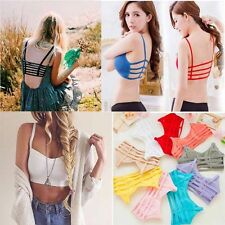 Padded Multiple back straps Sports bra/ beachwear/low back dresses Bralette bra