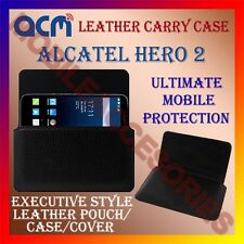 ACM-HORIZONTAL LEATHER CARRY CASE for ALCATEL HERO 2 MOBILE COVER POUCH HOLDER